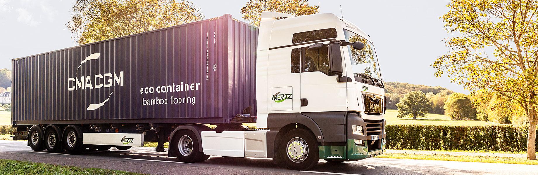 Porte conteneur Mertz transport routier